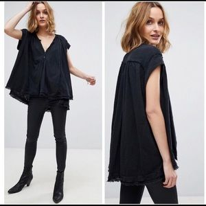 Free People Aster Henley Oversized Top